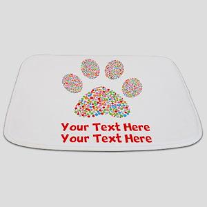Dog Paw Print Customize Bathmat
