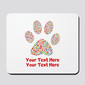 Dog Paw Print Customize Mousepad