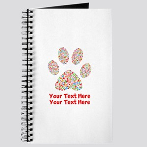 Dog Paw Print Customize Journal