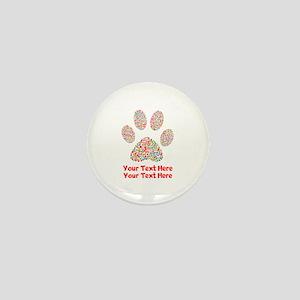 Dog Paw Print Customize Mini Button