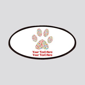 Dog Paw Print Customize Patch