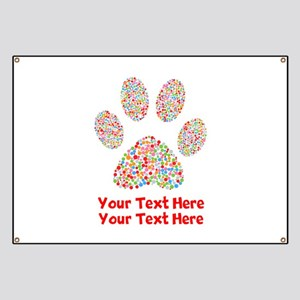 Dog Paw Print Customize Banner