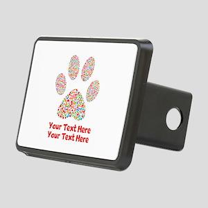 Dog Paw Print Customize Rectangular Hitch Cover