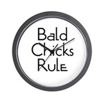 Bald Chicks Rule Wall Clock