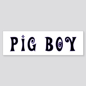 Leather Pride Pig Boy Bumper Sticker