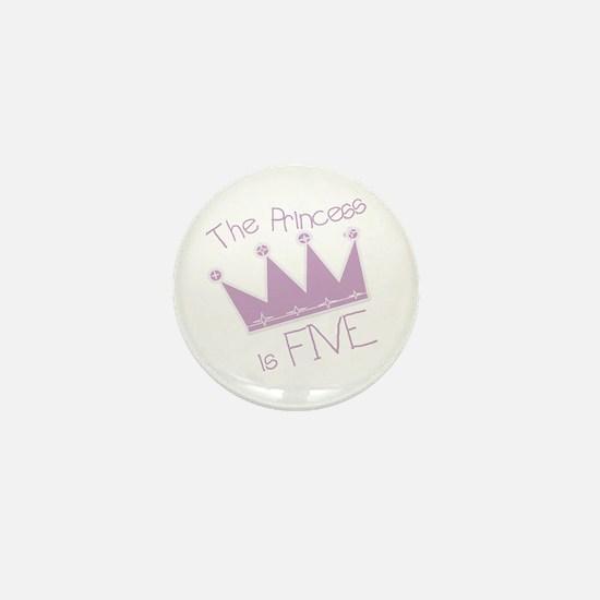 Princess I'm Five Mini Button