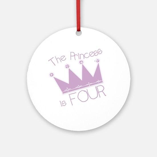 Princess I'm Four Ornament (Round)