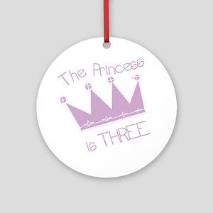 Princess I'm Three Ornament (Round)