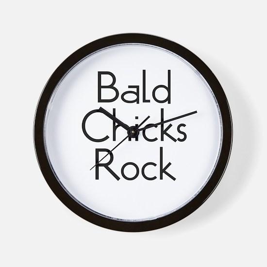Bald Chicks Rock Wall Clock