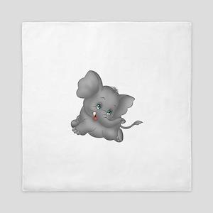 baby elephant Queen Duvet