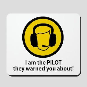 Pilot Warning Mousepad