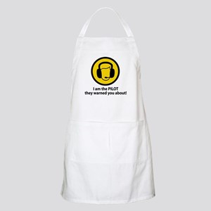 Pilot Warning BBQ Apron