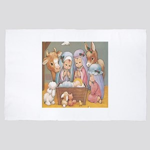 baby Jesus Nativity 4' x 6' Rug