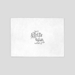 attitude prob 5'x7'Area Rug