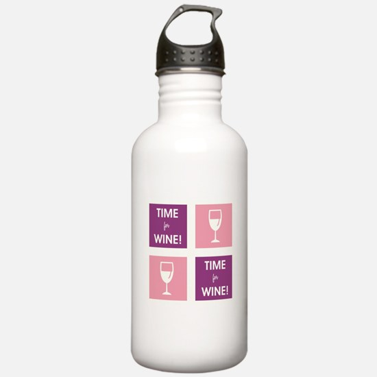 TIME FOR WINE! Water Bottle