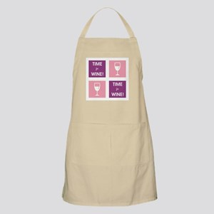 TIME FOR WINE! Apron
