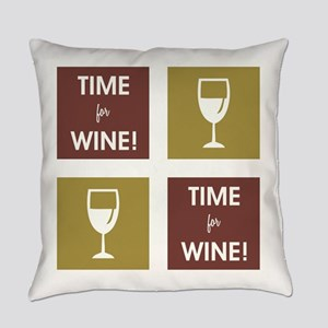 TIME FOR WINE! Everyday Pillow
