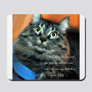 tiger lily quotes Mousepad