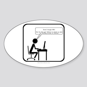 Bored Thoughts #58 Oval Sticker
