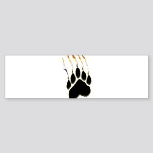 Bear Pride Paw Rip Bumper Sticker