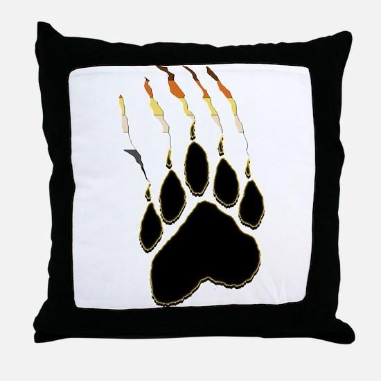 Bear Pride Paw Rip Throw Pillow