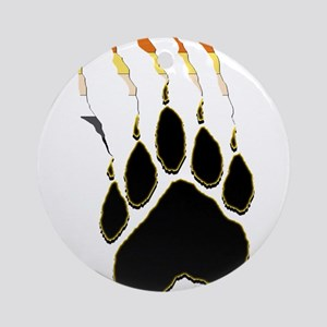 Bear Pride Paw Rip Ornament (Round)