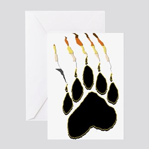 Bear Pride Paw Rip Greeting Card