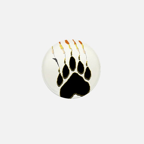 Bear Pride Paw Rip Mini Button