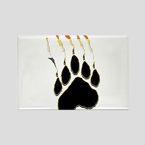 Bear Pride Paw Rip Rectangle Magnet