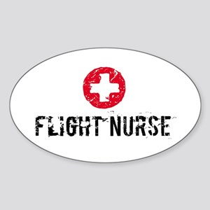 Flight Nurse SM Oval Sticker