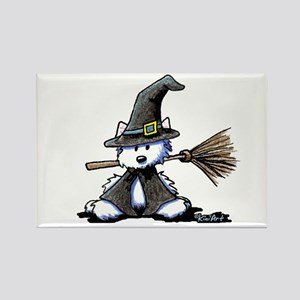 Westie WITCH Rectangle Magnet