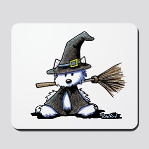 Westie WITCH Mousepad