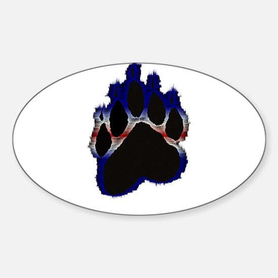 Leather Pride Glow Paw Oval Decal