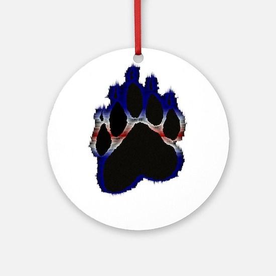Leather Pride Glow Paw Ornament (Round)