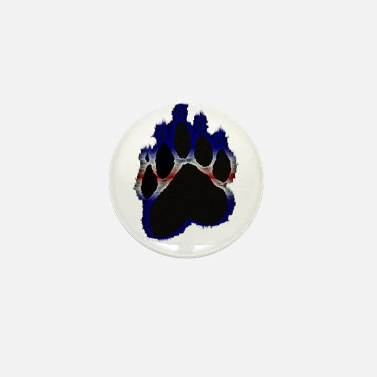 Leather Pride Glow Paw Mini Button
