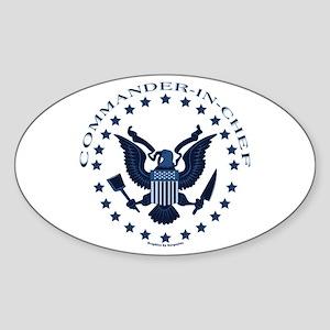 Commander-in-Chef Oval Sticker