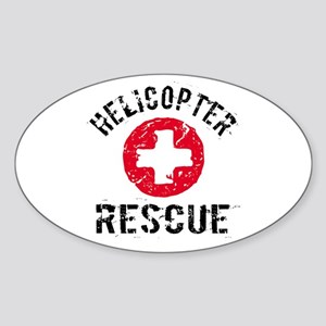 helicopter Rescue Oval Sticker