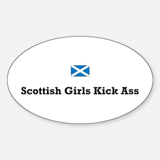 Scottish Girls Oval Decal