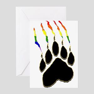 Gay Pride Paw Rip Greeting Card