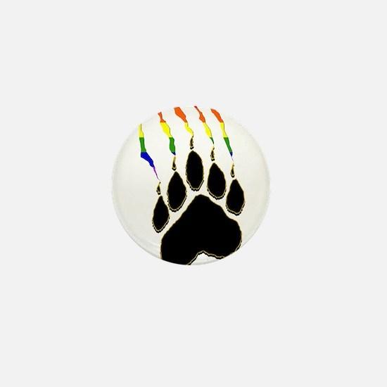 Gay Pride Paw Rip Mini Button