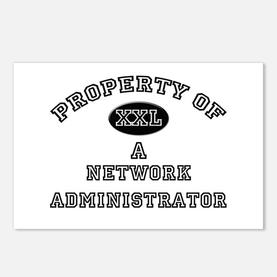 Property of a Network Administrator Postcards (Pac