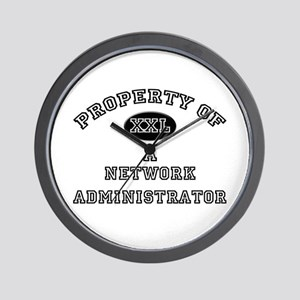Property of a Network Administrator Wall Clock