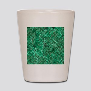 BRICK2 BLACK MARBLE & GREEN MARBLE (R) Shot Glass