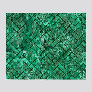 BRICK2 BLACK MARBLE & GREEN MARBLE ( Throw Blanket
