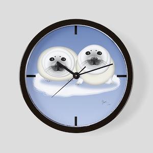 Seal Pups Wall Clock