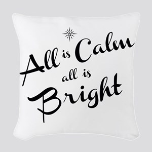 All is Calm Woven Throw Pillow