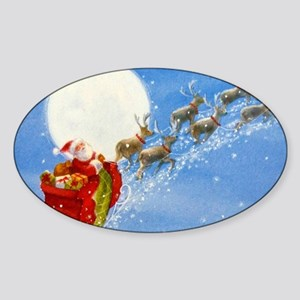 Santa with his Flying Reindeer Sticker