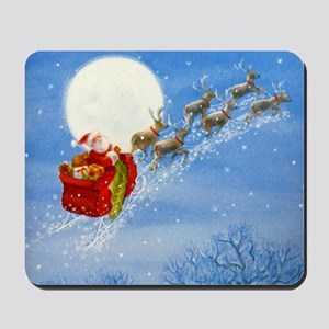 Santa with his Flying Reindeer Mousepad