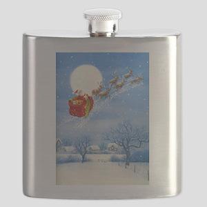 Santa with his Flying Reindeer Flask