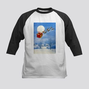 Santa with his Flying Reindeer Baseball Jersey